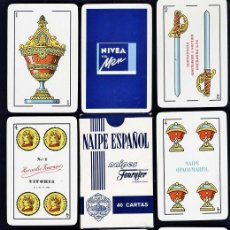 Barajas de cartas: BARAJA / NAIPES - NIVEA FOR MEN - 40 CARTAS / CON CAJA - ESPAÑOLA - H. FOURNIER - RD. Lote 36547915