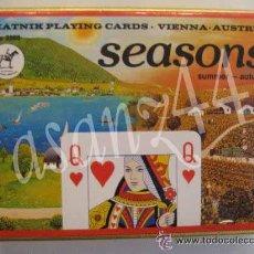 Barajas de cartas: BARAJA DOBLE 4 ESTACIONES - PIATNIK PLAYING CARDS - VIENNA - AUSTRIA. Lote 27947004