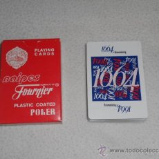 Barajas de cartas: NAIPES HERACLIO FOURNIER - CERVEZA KRONENBURG 1664 - BARAJA CARTAS POKER PLAYING CARDS PLASTIC. Lote 37108286
