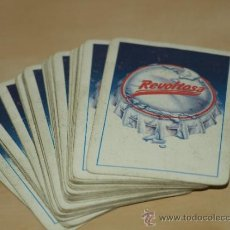 Barajas de cartas: BARAJA ESPAÑOLA DE 40 CARTAS. PUBLICIDAD GASEOSA REVOLTOSA. USADA. VER FOTOS Y DESCRIPCION.. Lote 37136069