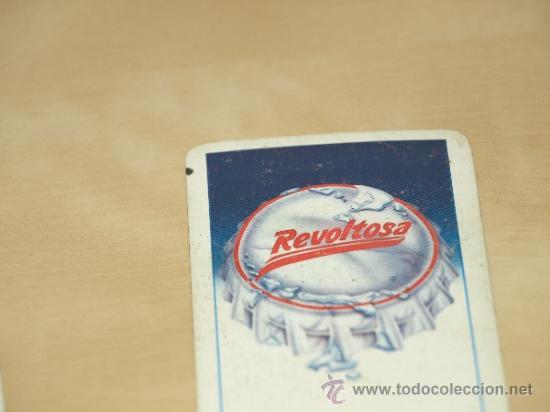 Barajas de cartas: BARAJA ESPAÑOLA DE 40 CARTAS. PUBLICIDAD GASEOSA REVOLTOSA. USADA. VER FOTOS Y DESCRIPCION. - Foto 6 - 37136069