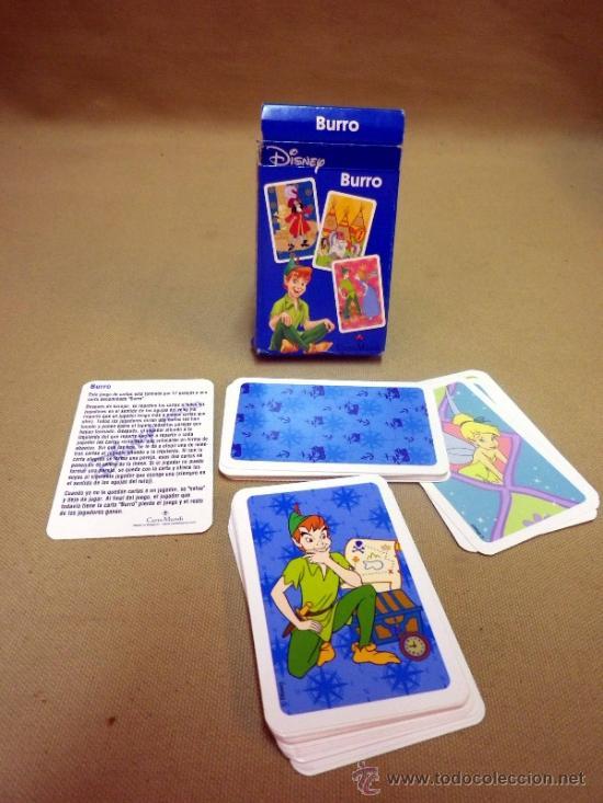 BARAJA INFANTIL FOURNIER. PETER PAN. BURRO. EN SU CAJA Y CON INSTRUCCIONES (Juguetes y Juegos - Cartas y Naipes - Barajas Infantiles)