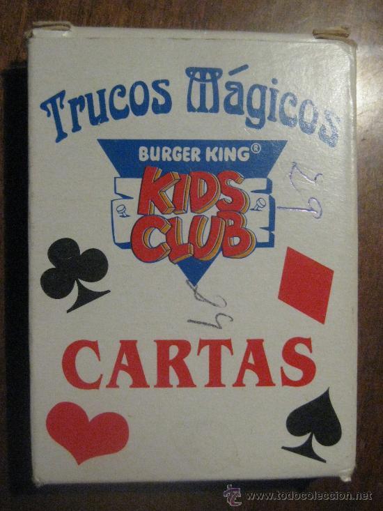 BARAJA DE CARTAS TRUCOS MÁGICOS - BURGER KING - KIDS CLUB - FALTA UNA CARTA- TIENE DOS CARTAS JOKER (Juguetes y Juegos - Cartas y Naipes - Barajas Infantiles)