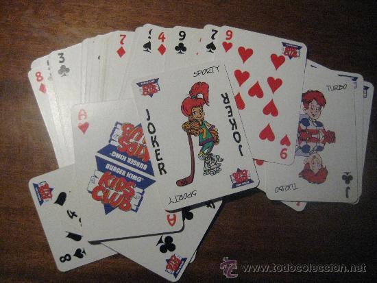 Barajas de cartas: BARAJA DE CARTAS TRUCOS MÁGICOS - BURGER KING - KIDS CLUB - FALTA UNA CARTA- TIENE DOS CARTAS JOKER - Foto 5 - 37220082