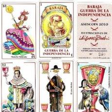 Barajas de cartas: BARAJA GUERRA DE LA INDEPENDENCIA-ASESCOIN EDICION LIMITADA 500 EJEMPLARES. Lote 46692089