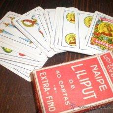 Barajas de cartas: BARAJA LILIPUT ESPAÑOLA - SIN USO ALGUNO IMPECABLE. Lote 39315940