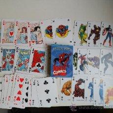 Barajas de cartas: MARVEL 2 BARAJAS DE CARTAS INCOMPLETAS SPIDERMAN LOS VENGADORES COMICS FORUM. Lote 37445879