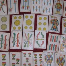 Barajas de cartas: ANTIGUA BARAJA DE NAIPES ESPAÑOLES DE FINALES DEL SIGLO XIX. INCOMPLETA( 27 CARTAS). . Lote 37481972