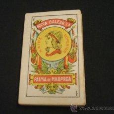 Barajas de cartas: ANTIGUA BARAJA ESPAÑOLA DE CARTAS NAIPES COMPLETA CON 48 VISTAS DE MALLORCA - NUEVA BALEAR - . Lote 37534923