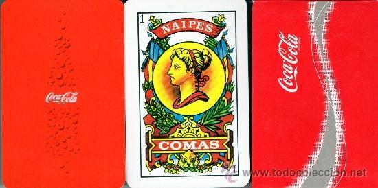 BARAJA PUBLICITARIA COCA COLA¡¡¡¡ NAIPES COMAS (Juguetes y Juegos - Cartas y Naipes - Otras Barajas)