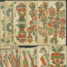 Baralhos de cartas: RARA BARAJA PARA TRAPPOLA DE COLECCION DATA DE AUSTRIA SIGLO XVIII 1782 COLECCION DE HACE UNOS AÑOS. Lote 39666614
