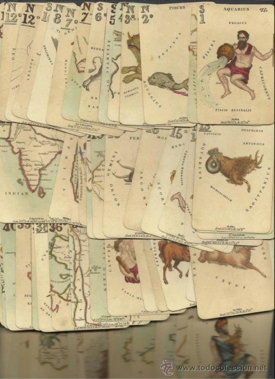 BARAJA ASTRONOMICA DE COLECCION DATA DE ISLAS BRITANICAS SIGLO XIX 1828 COLECCION DE HACE UNOS AÑOS (Juguetes y Juegos - Cartas y Naipes - Otras Barajas)