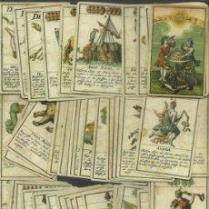Barajas de cartas: BARAJA ASTRONOMICA DATA DE ALEMANIA DEL SIGLO XVIII 1719 COLECCION DE HACE UNOS AÑOS. Lote 37697001
