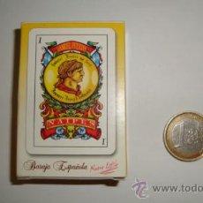 Barajas de cartas: BARAJA DE CARTAS NAIPE ESPAÑOL 50 NAIPES PLASTIFICADOS DE TAMAÑO PEQUEÑO. Lote 37754427