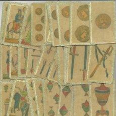 Barajas de cartas: BARAJA ESPAÑOLA MINCHIALA DE ESTILO SICILIANO DATA DE ITA SIGLO XIX 1830 COLECCION DE HACE UNOS AÑOS. Lote 37769561