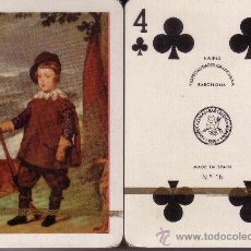 Barajas de cartas: VELAZQUEZ - EL PRINCIPE BALTASAR CARLOS CAZADOR - BARAJA DE POKER. Lote 37851604