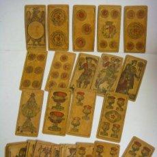 Barajas de cartas: BARAJA DE CARTAS Nº-34 BARAJA PARAPIACENTINA ITALIA SIGLO XIX (1884),. Lote 173522753