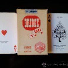 Barajas de cartas: BARAJA DE CARTAS H FOURNIER VITORIA BRIDGE Nº 26 1960 NAIPES ROJO . Lote 37953883