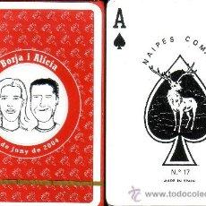 Barajas de cartas: BORJA I ALICIA 4 JUNY 2004 - BARAJA POKER. Lote 37963342