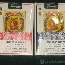 Barajas de cartas: 2 BARAJAS FOURNIER POKER ESPAÑOL. Lote 171578392