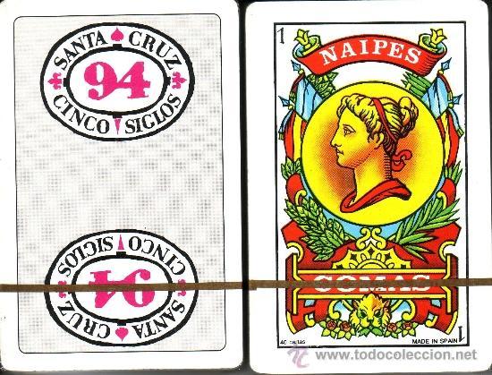 SANTA CRUZ 94 CINCO SIGLOS - BARAJA ESPAÑOLA DE 40 CARTAS (Juguetes y Juegos - Cartas y Naipes - Baraja Española)