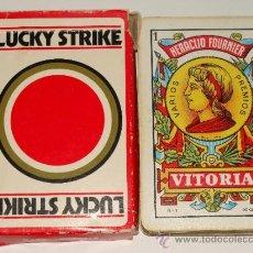 Barajas de cartas: BARAJA DE CARTAS ESPAÑOLA. FOURNIER. TABACO LUCKY STRIKE. . Lote 38075353
