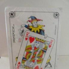 Barajas de cartas: BARAJA NAIPES CARTAS CARTAMUNDI MADE IN BELGIUM POKER SIN DESPRECINTAR ACS. Lote 38108536