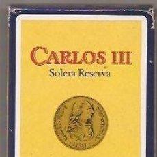 Barajas de cartas: BRANDY DE JEREZ CARLOS III DE PEDRO DOMECQ. BARAJA PUBLICITARIA DE FOURNIER. Lote 39759648