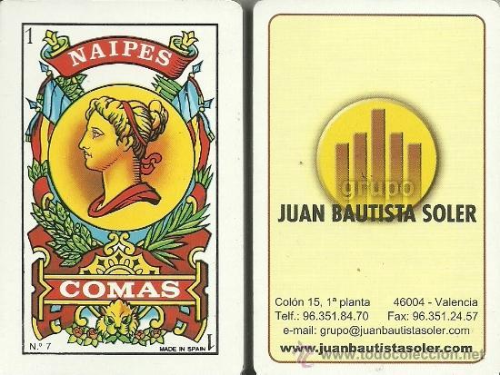 JUAN BAUTISTA SOLER - BARAJA ESPAÑOLA 50 CARTAS (Juguetes y Juegos - Cartas y Naipes - Baraja Española)