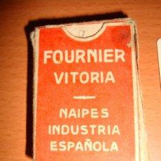 Barajas de cartas: BARAJA DE CARTAS PEQUEÑA, FOURNIER VITORIA, NAIPES INDUSTRIA ESPAÑOLA, NAIPE LILIPUT DE 40 CARTAS. Lote 38349916