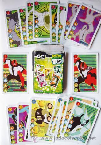 CARTAS - BARAJA BEN 10-FALTA UNA CARTA Y LA CAJA UN POCO DETERIDADA (Juguetes y Juegos - Cartas y Naipes - Otras Barajas)