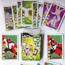Barajas de cartas: CARTAS - BARAJA BEN 10-FALTA UNA CARTA Y LA CAJA UN POCO DETERIDADA. Lote 38379342