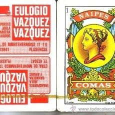 Barajas de cartas: TRANSPORTES EULOGIO VAZQUEZ - BARAJA ESPAÑOLA 40 CARTAS. Lote 38421869