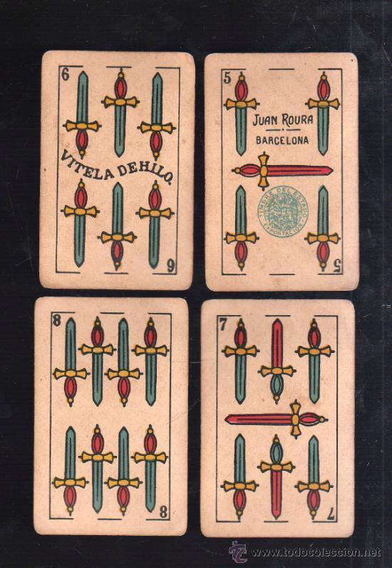 Barajas de cartas: BARAJA DE CARTAS. LA LOBA. JUAN ROURA. 1939. PARA LA EXPORTACION. COMPLETA. VER FOTOS - Foto 13 - 38415404