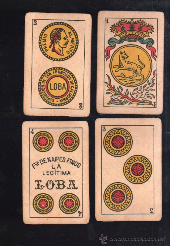 Barajas de cartas: BARAJA DE CARTAS. LA LOBA. JUAN ROURA. 1939. PARA LA EXPORTACION. COMPLETA. VER FOTOS - Foto 11 - 38415404