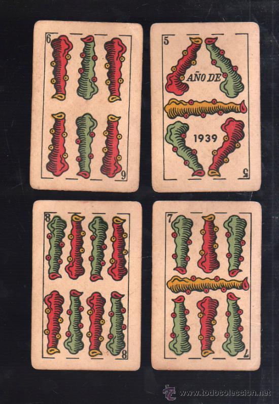 Barajas de cartas: BARAJA DE CARTAS. LA LOBA. JUAN ROURA. 1939. PARA LA EXPORTACION. COMPLETA. VER FOTOS - Foto 7 - 38415404
