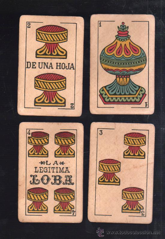Barajas de cartas: BARAJA DE CARTAS. LA LOBA. JUAN ROURA. 1939. PARA LA EXPORTACION. COMPLETA. VER FOTOS - Foto 5 - 38415404