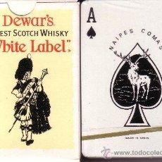 Barajas de cartas: DEWARS WHITE LABEL SCOTCH WHISKY - BARAJA DE POKER. Lote 38429095