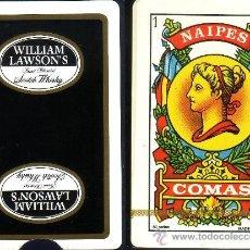 Barajas de cartas: WILLIAM LAWSOM'S SCOTCH WHISKY - BARAJA ESPAÑOLA 50 CARTAS. Lote 38448545