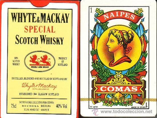 WHYTE & MACKAY SCOTCH WHISKY - BARAJA ESPAÑOLA 50 CARTAS (Juguetes y Juegos - Cartas y Naipes - Otras Barajas)