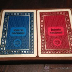 Barajas de cartas: DOS BARAJAS LOTERIA NACIONAL POKER. Lote 38749415