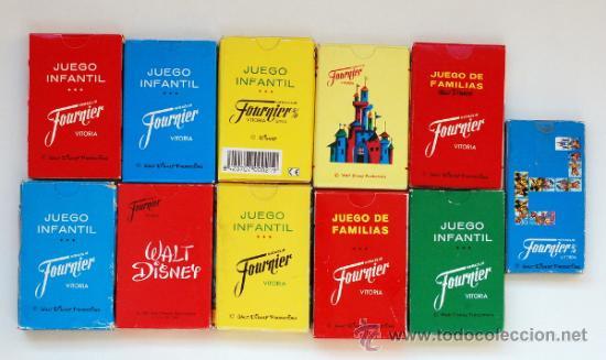 Barajas de cartas: Lote de 11 antiguas barajas de Fournier, sobre películas y dibujos de Walt Disney - Foto 2 - 38749748