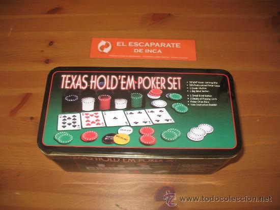 Texas Hold Em Poker Set Juego De Mesa Cartas Se Comprar Barajas De