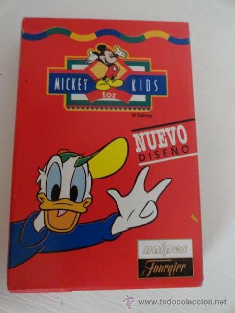 BARAJA NAIPES FOURNIER MICKEY KIDS COMO NUEVAS 33 CARTAS (Juguetes y Juegos - Cartas y Naipes - Barajas Infantiles)