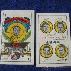 Barajas de cartas: BARAJA CROMO NAIPE CARTA DEPORTIVA FUTBOL UNIVERSO AÑOS 40 CON FOTOS FUTBOLISTAS EPOCA . Lote 39140605