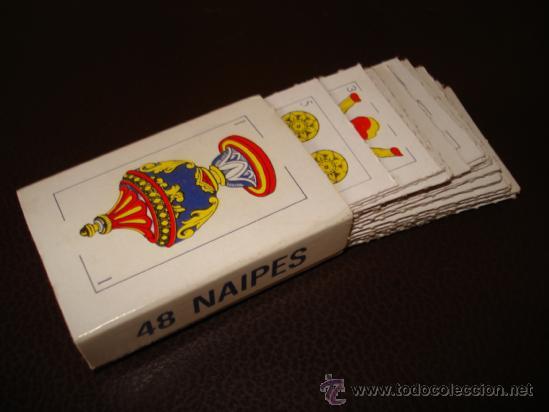 BARAJA CARTAS TAMAÑO REDUCIDO 48 NAIPES (Juguetes y Juegos - Cartas y Naipes - Otras Barajas)