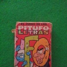 Barajas de cartas: BARAJA DE CARTAS LOS PITUFOS DE EDICIONES RECREATIVAS EL JUEGO DE LAS PITUFO LETRAS. Lote 39265970