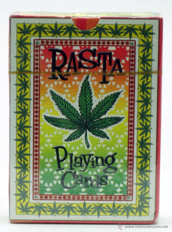 BARAJA PÓKER RASTA PLAYING 54 CARDS MARIHUANA CANNABIS 2002 NUEVA PRECINTADA (Juguetes y Juegos - Cartas y Naipes - Otras Barajas)