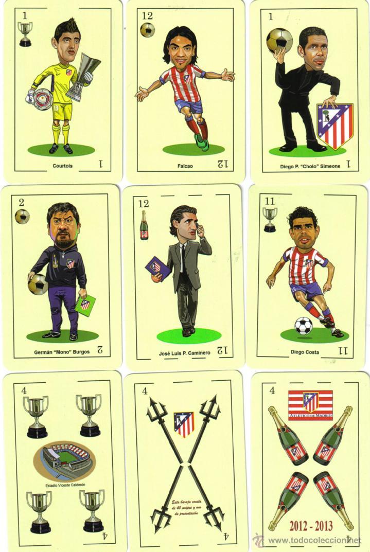 BARAJA ESPAÑOLA CARICATURAS ATLETICO DE MADRID-OFICIAL-AÑO 2013-BARAJA AGOTADA (Juguetes y Juegos - Cartas y Naipes - Baraja Española)