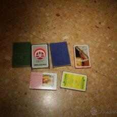 Barajas de cartas: LOTE DE 6 BARAJAS DE CARTAS ESPAÑOLAS (HERACLIO FOURNIER),CON PUBLICIDAD, COMPLETAS.. Lote 39723321